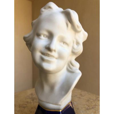 Buste Biscuit Jeune Femme Camille Tharaud , Limoges