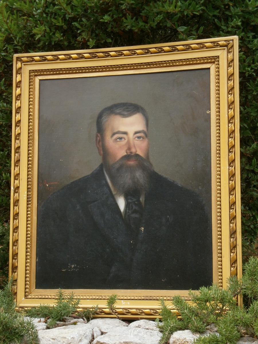 Portrait En  buste d'un notable Hst Signé E Froment 1896  XIX° Siecle