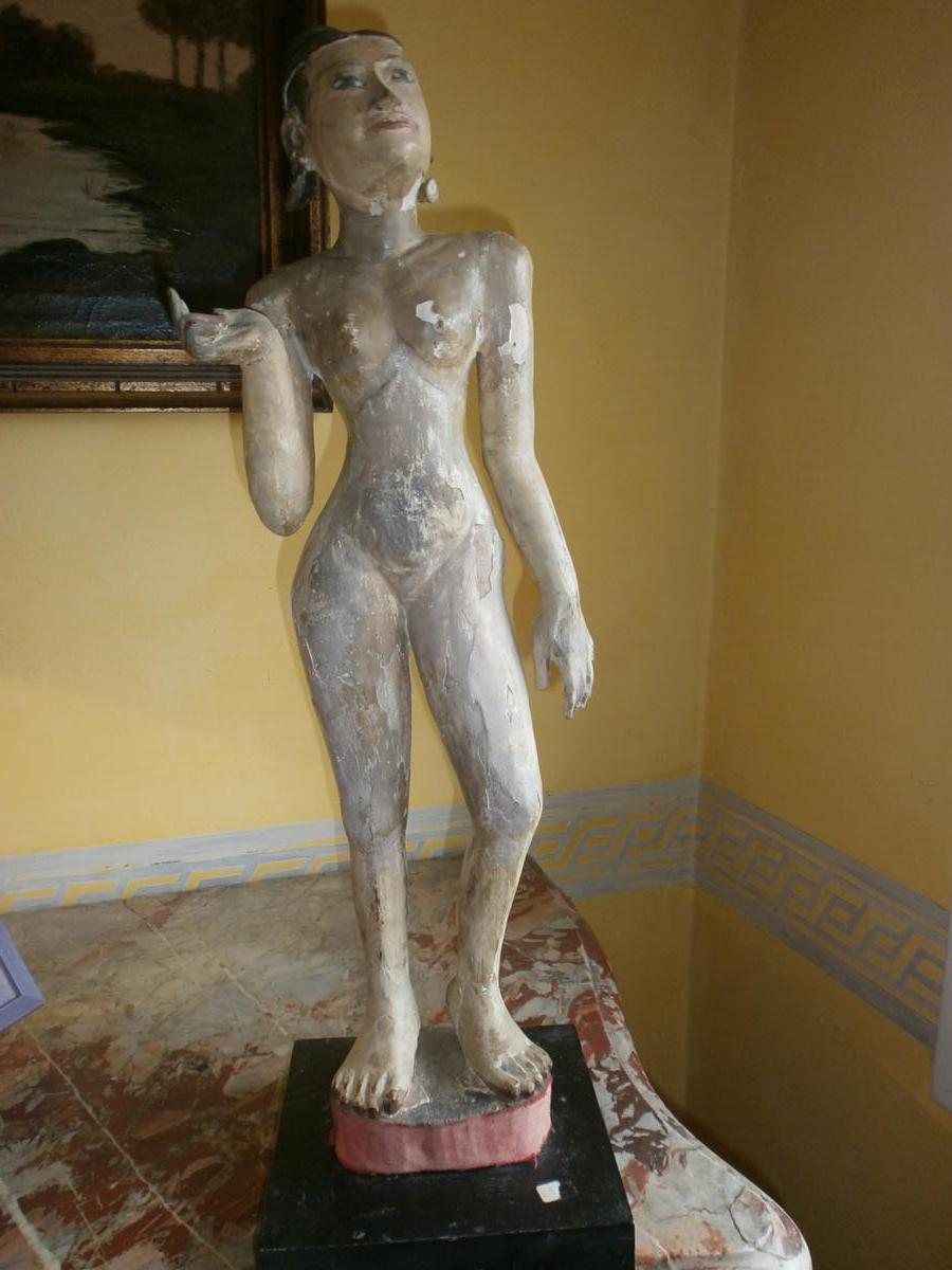 Statue De femme, Birmanie 19ème Siècle