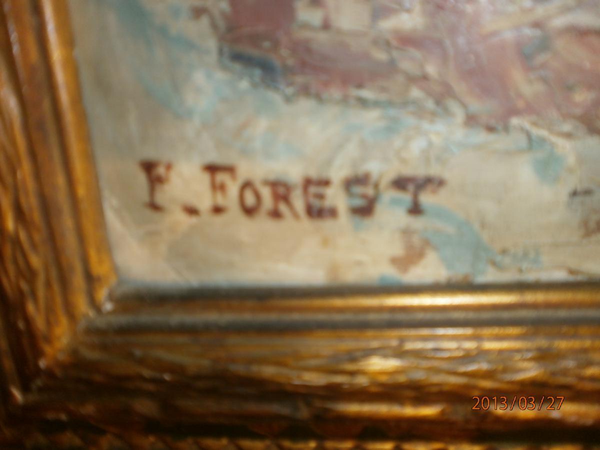 Tableau Fleurs Provençal Signé Forest-photo-4