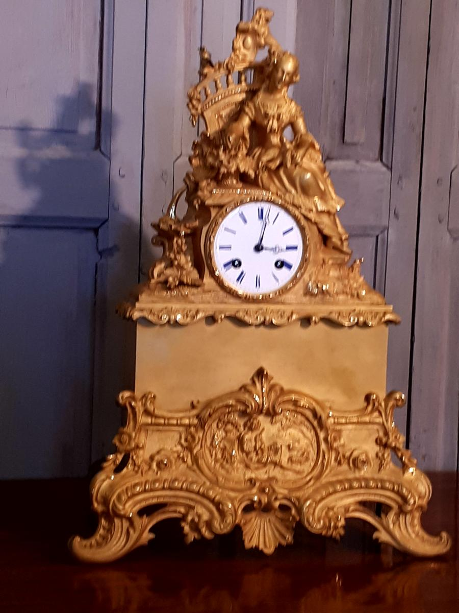 Pendulum Gilt Bronze 19th Time