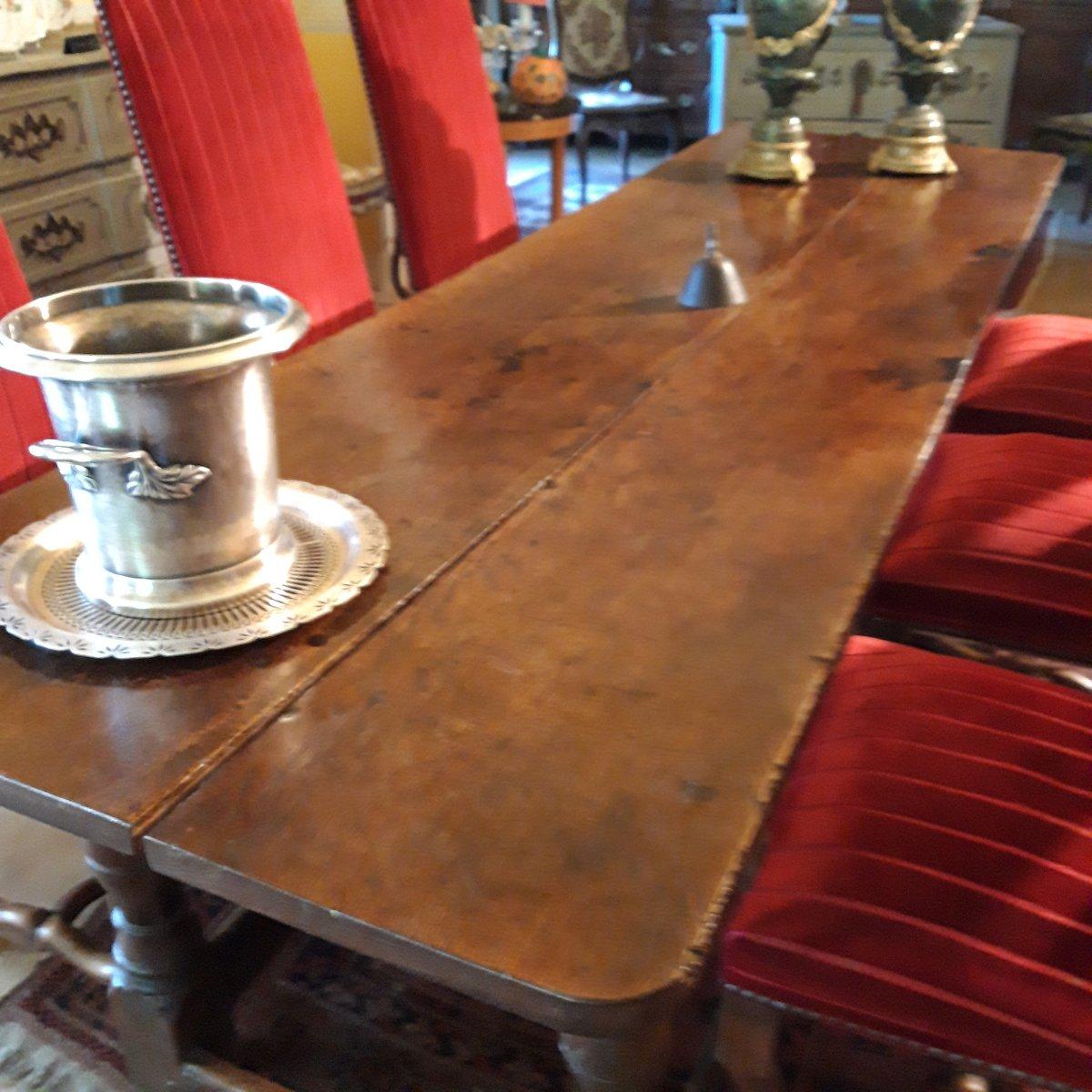Console D'Appui  ou Table D'office de couvent 17 ème-photo-4