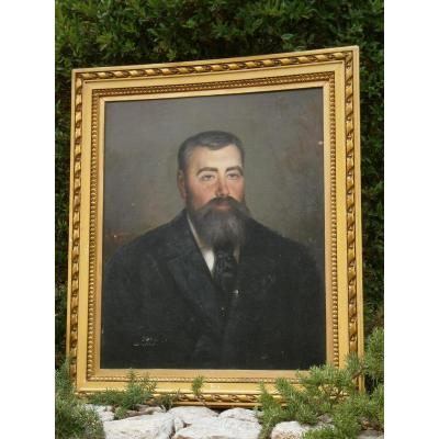 Portrait En  buste d'un notable Hst Signé E Froment 1896  XIX° Siecle