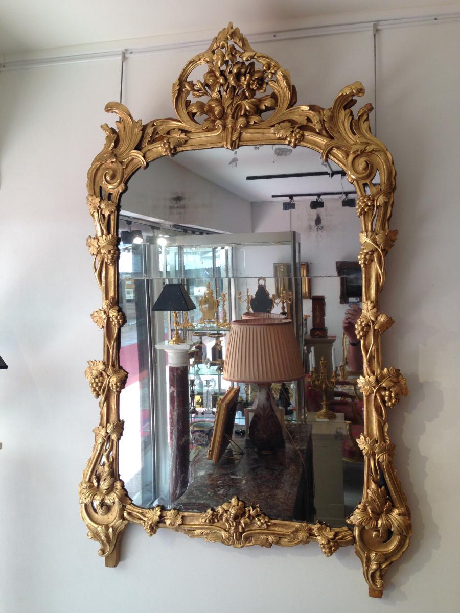 Important miroir louis xv miroirs for Miroir louis xv