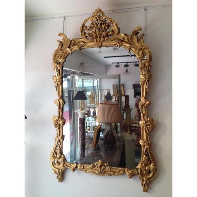 Important Miroir Louis XV