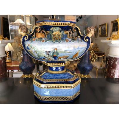 Vase Majolique XIXème