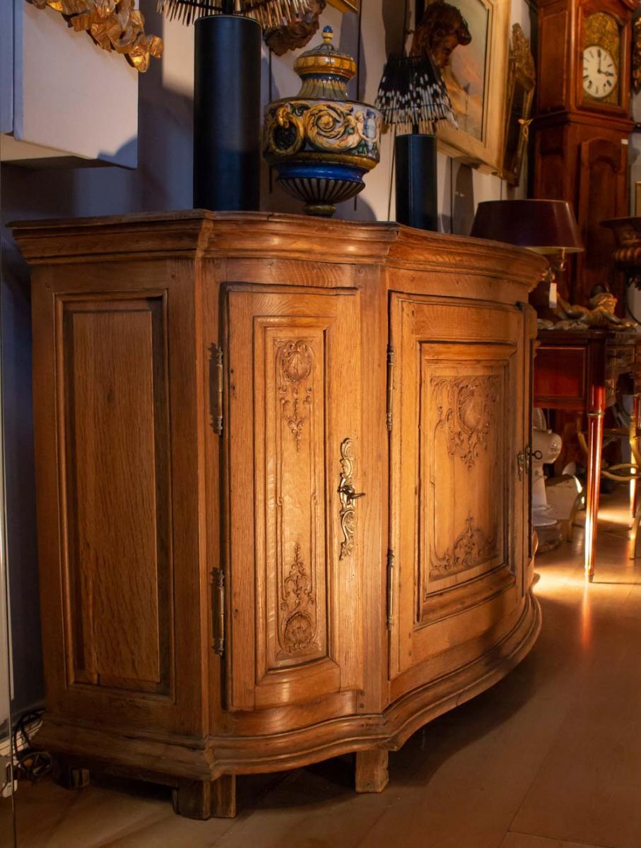 Buffet De Boiserie galbé XVIIIème à 4 Portes dit