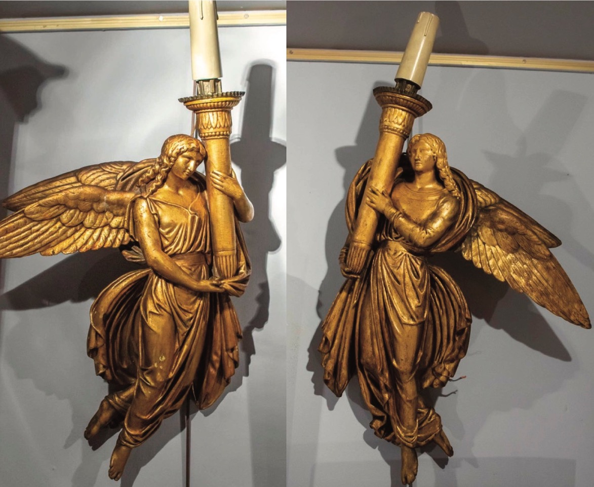 Pair Of Wall In Golden Wood. Italy Nineteenth