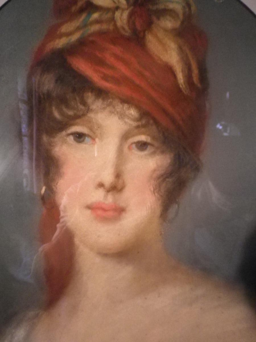 Beginning Pastel XIX, Portrait Of Young Woman