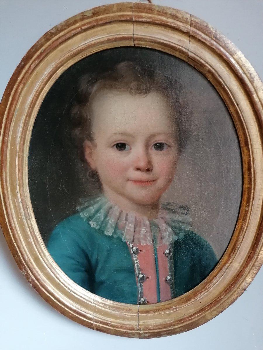 Ecole Française 18 ème , Portrait d'Enfant
