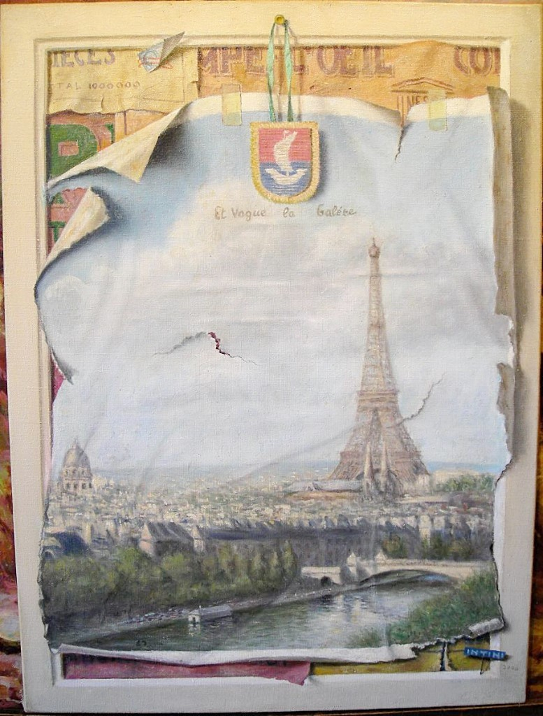 Trompe l'oeil sur Paris par Paolo Intini