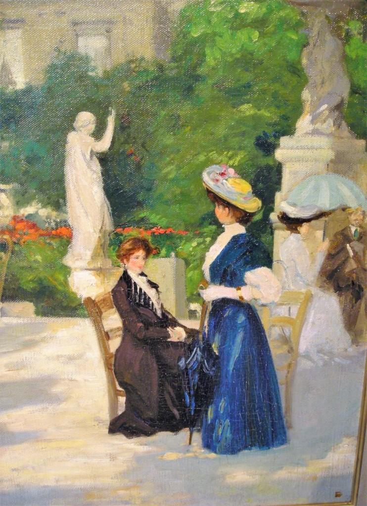 Elégantes au Jardin du Luxembourg par François Charles Baude