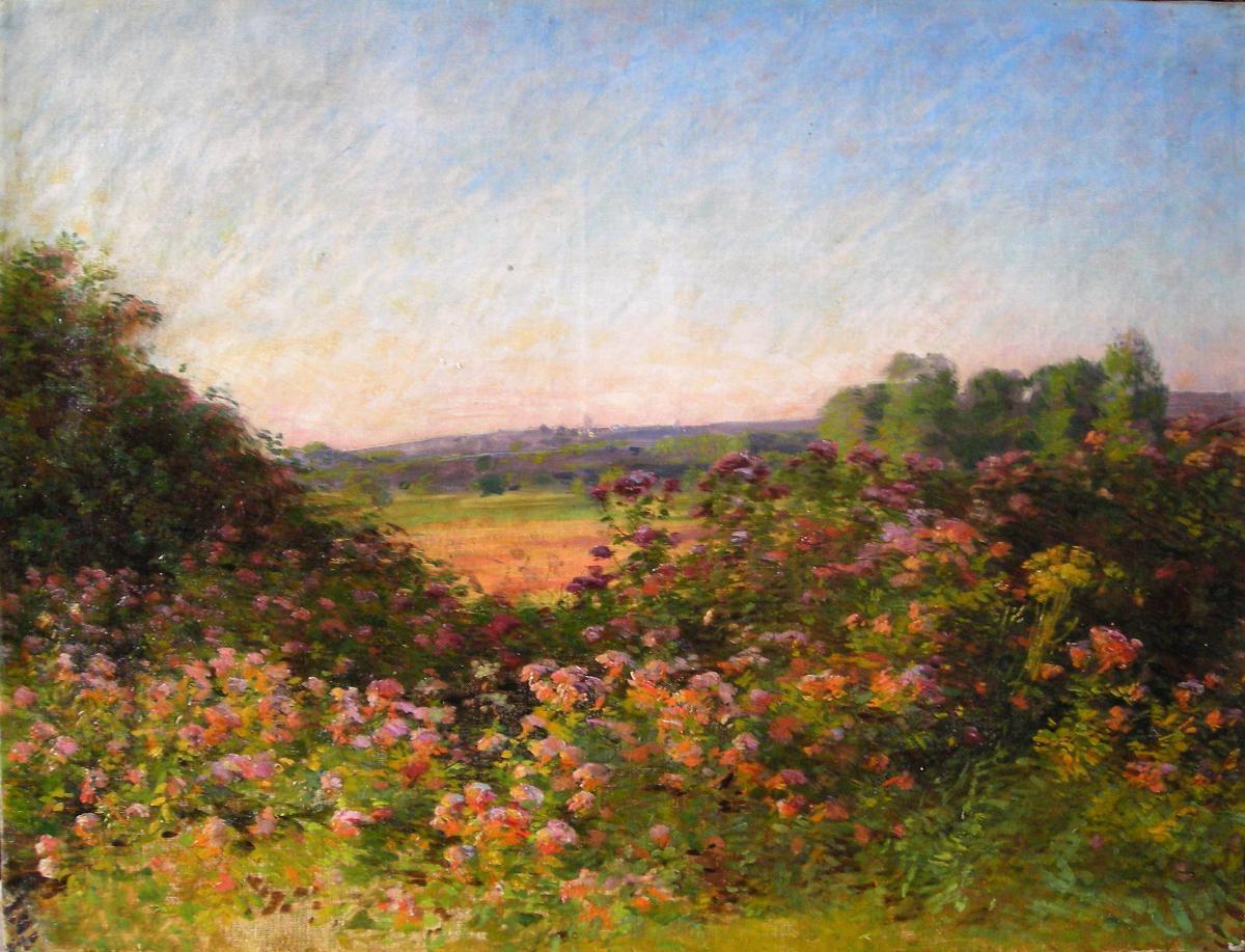 Paysage fleuri par René Etienne