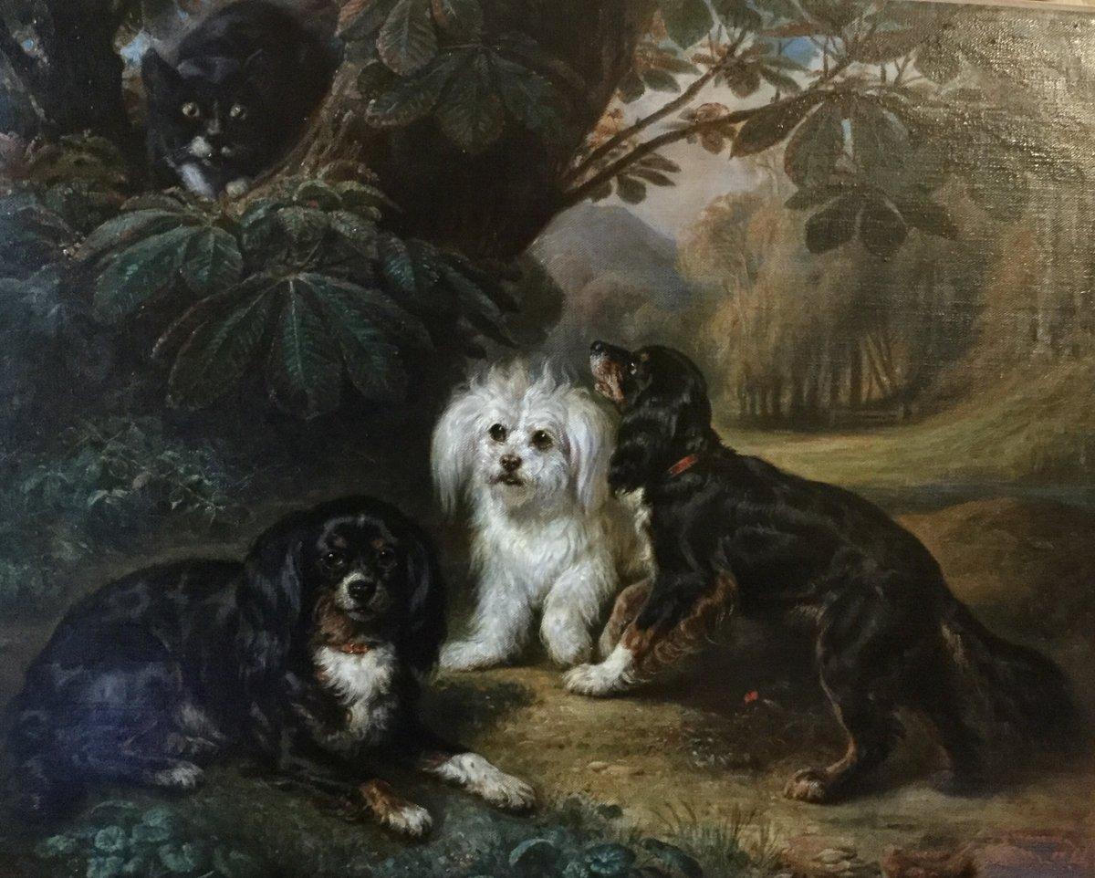 """""""Chiens et chat"""" par François Gabriel Lépaulle"""