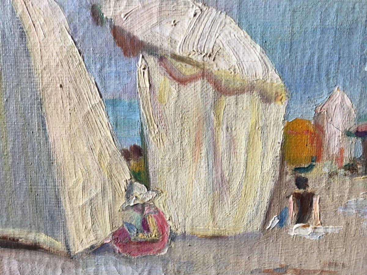 Scène de plage par Marie-Louise Trabucco