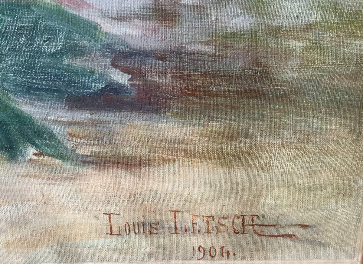 Les pivoines dans le panier par Louis Letsch