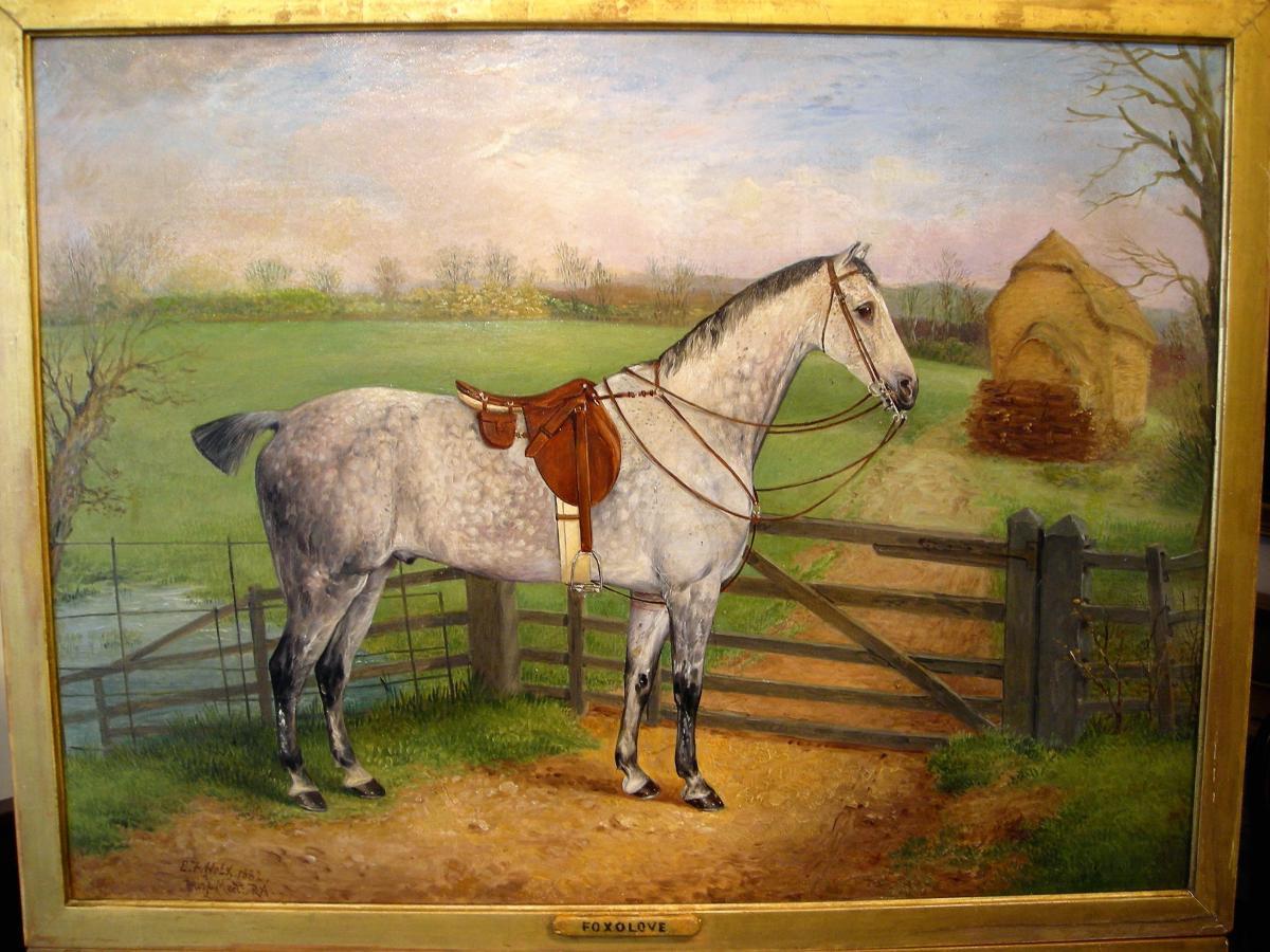 Portrait de cheval par E. Holz