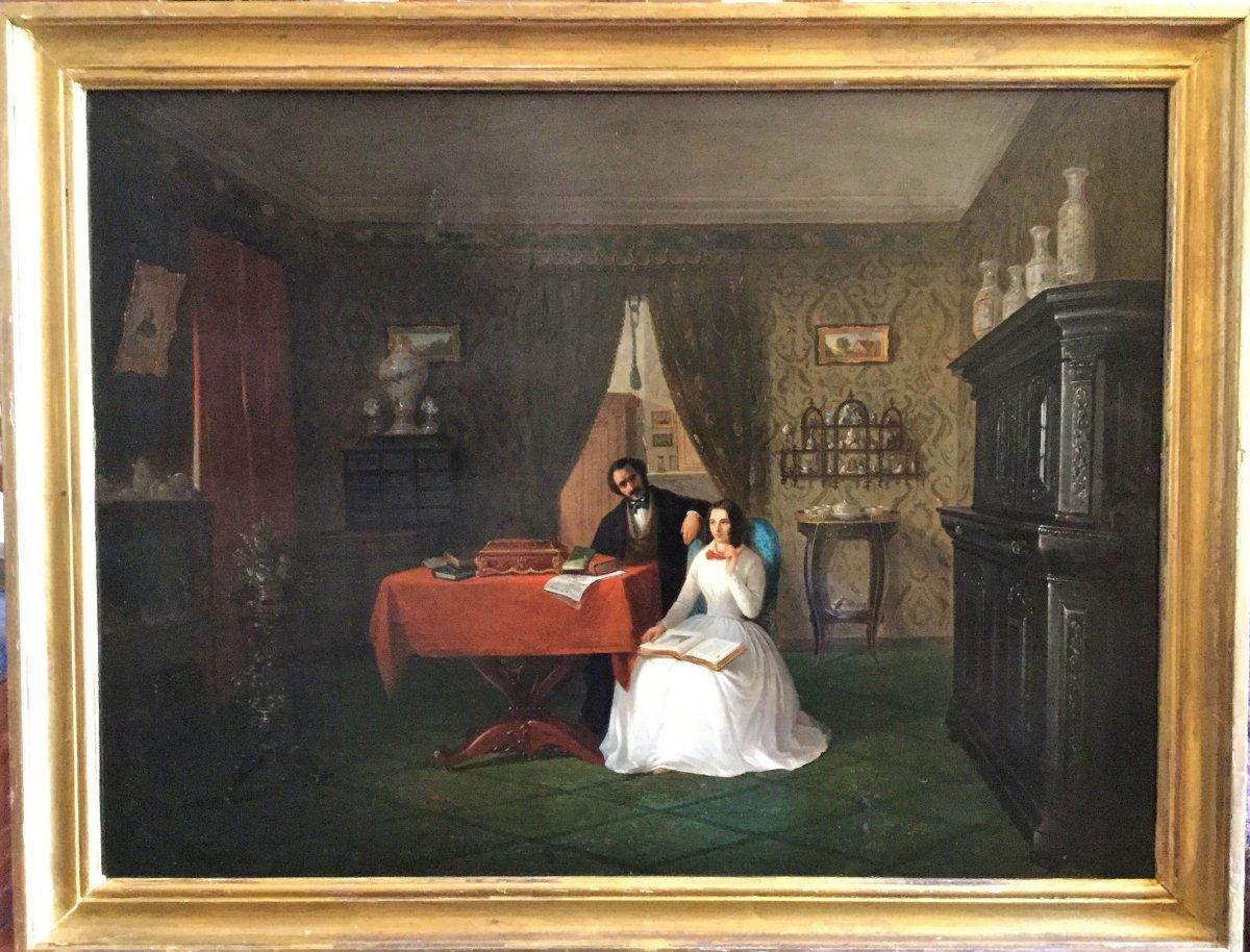 Scène d'intérieur vers 1830