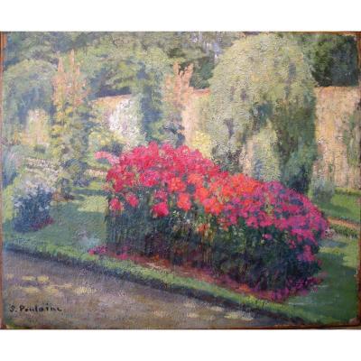 Parterre de fleurs par S. Poulainc (début du 20e siècle)