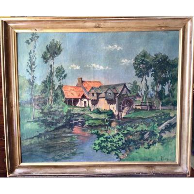 Paysage de rivière par Georges-William Damaye