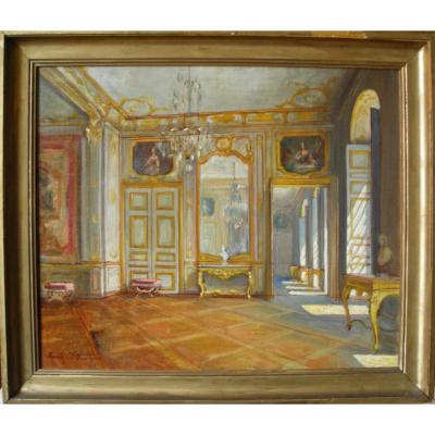 Scène d'intérieur à Versailles par Emile Chaperon