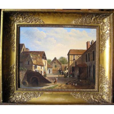 Scène Villageoise attribuée à Jean-François Demay