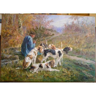 Le repos des chiens de chasse par Marie Calves