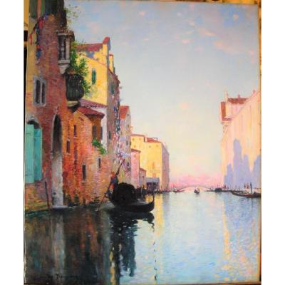 A Canal In Venice By Maurice Bompard (1857-1936)