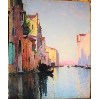 Un canal à Venise par Maurice Bompard (1857-1936)