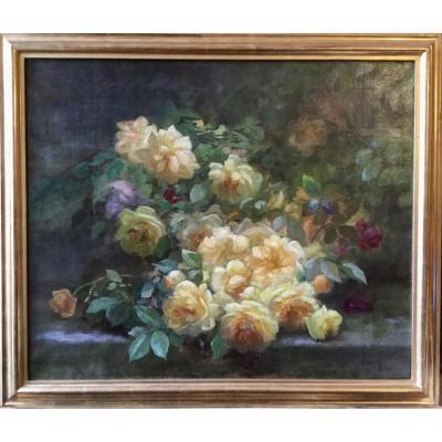 Jetée de roses jaunes par Marthe-Elisabeth Barbaud-Koch