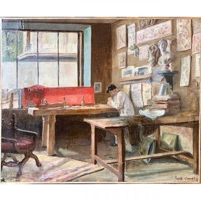 L'atelier d'artiste par Gustave Chanet