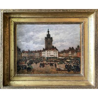 Le marché de Béthune par Louis Braquaval (1860-1919)