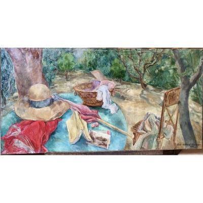 La terrasse par Luc-Albert Moreau (1882-1948)