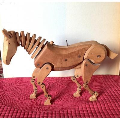 Cheval articulé d'atelier en bois