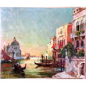 Vue de Venise par Léo Fontan (1884-1965)
