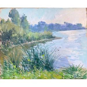 Paysage des bords de Seine par Paul Anderbouhr