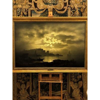 Peinture De Paysage Au Clair De Lune