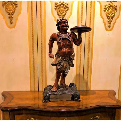 Gueridon Venise 18ème Siecle  Gardien Nio Du Bouddha