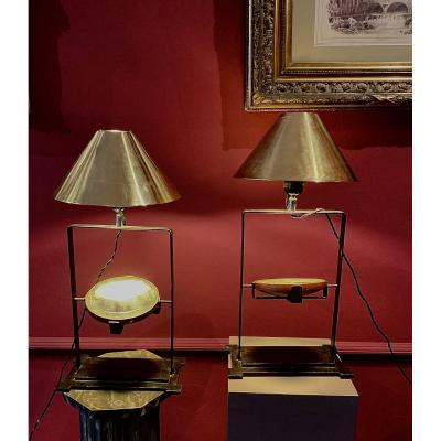 Pair Of Lamps From The 50s.