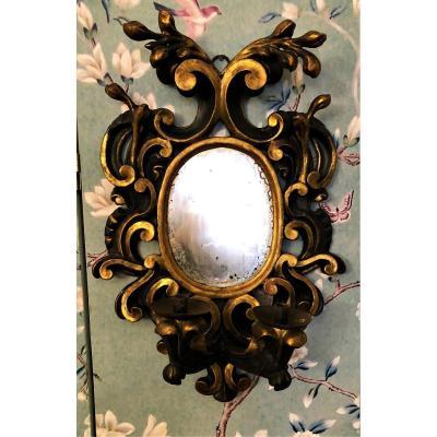 Miroir d'Appliques Romain à  2 Bras De Lumière