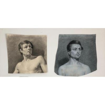 Deux  Dessins  d'études , XIXème