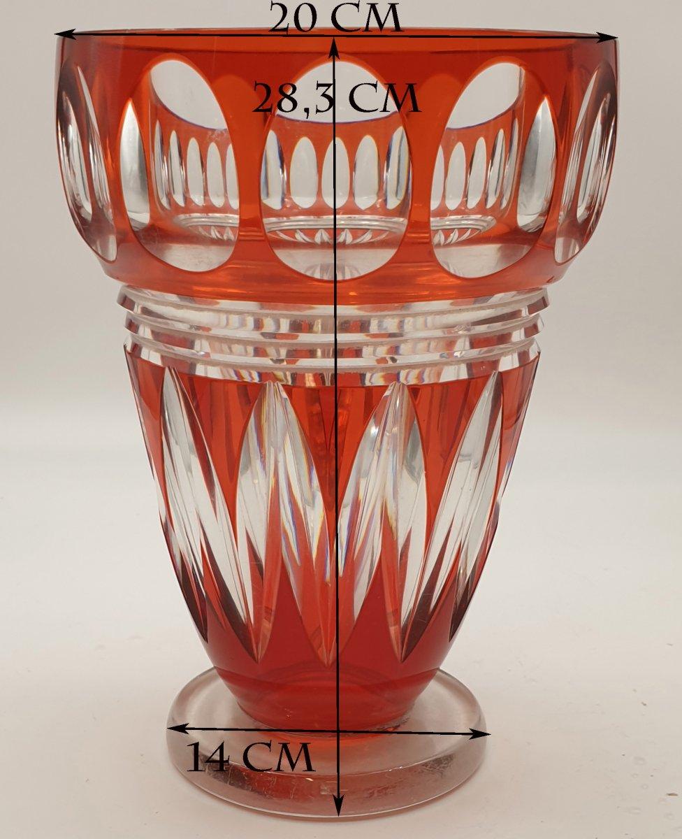 Vase Cristal Joseph Simon Val Saint Lambert Epoque Art Deco Vers 1925. -photo-2