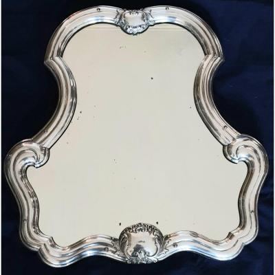 Large Table Or Dressing Table Mirror In Sterling Silver XIXth