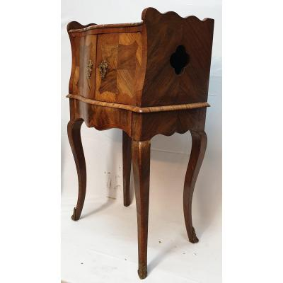 Louis XV Entre-deux Furniture Curved Snap Table XVIIIth Marquetry