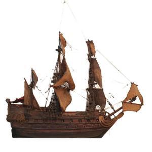 Ex-voto Marin XIXth Model Of A Three Mats