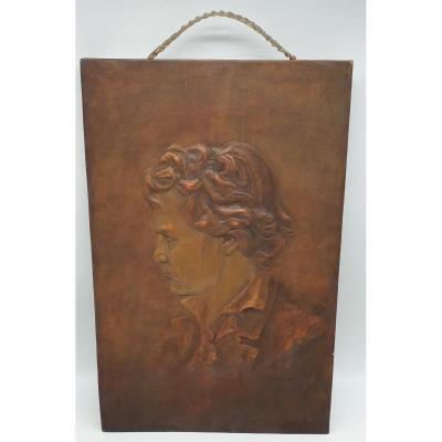 Goldscheider Friedrich Terre Cuite Male Character Wall Plate Circa 1890