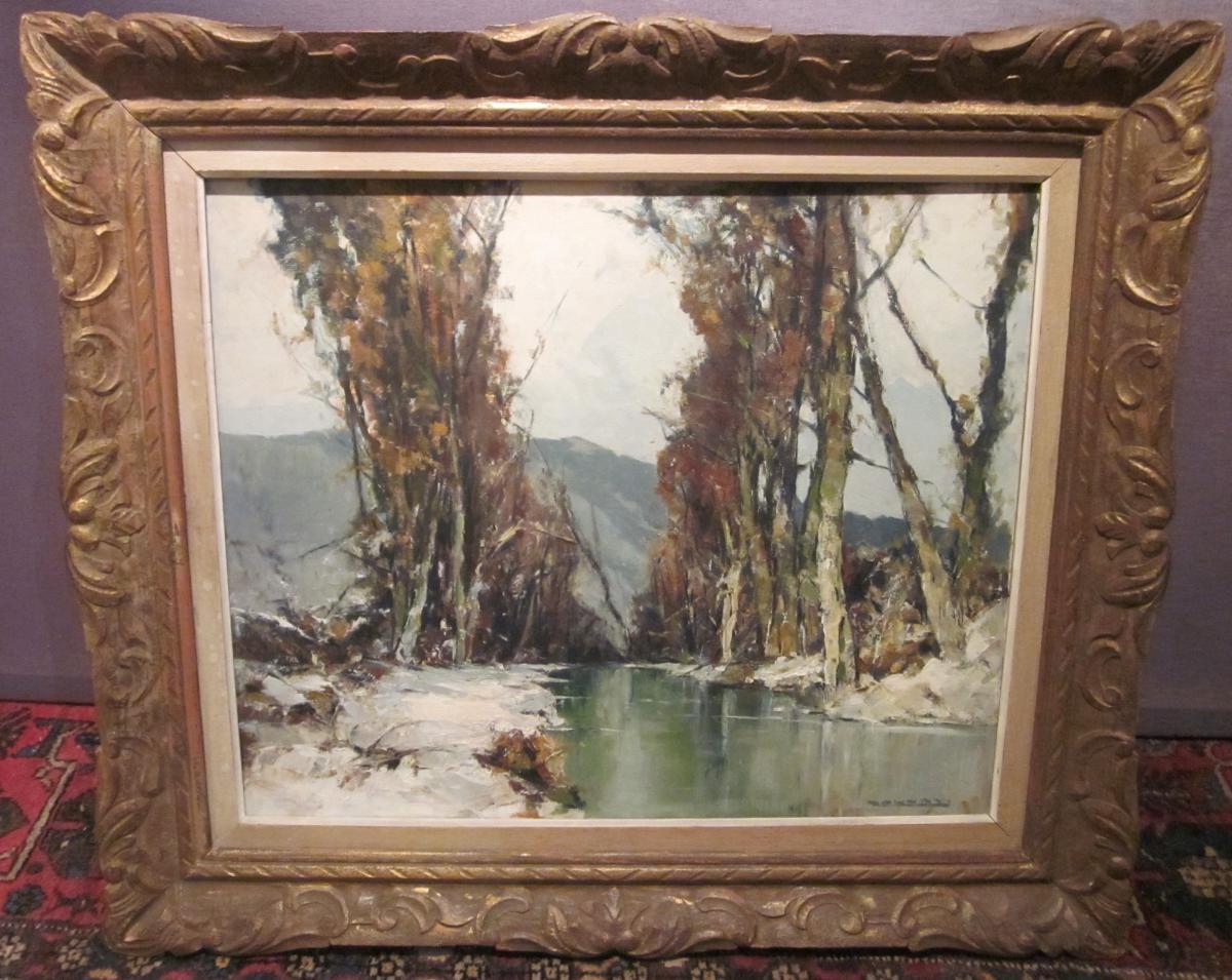 HANNAY (XXème siècle) : Neige dans l'Oise