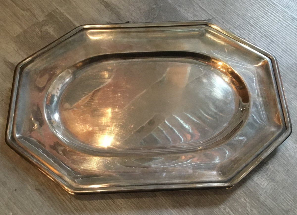 GALLIA (Christofle) - Plat en métal argenté