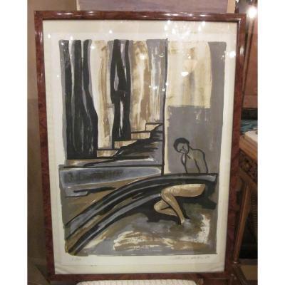 PHILIPPOT-MATHIEU Andrée (née en 1946) - lithographie