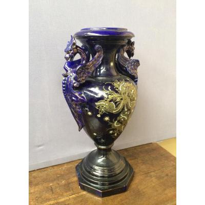 Grand vase en céramique, XIXème siècle